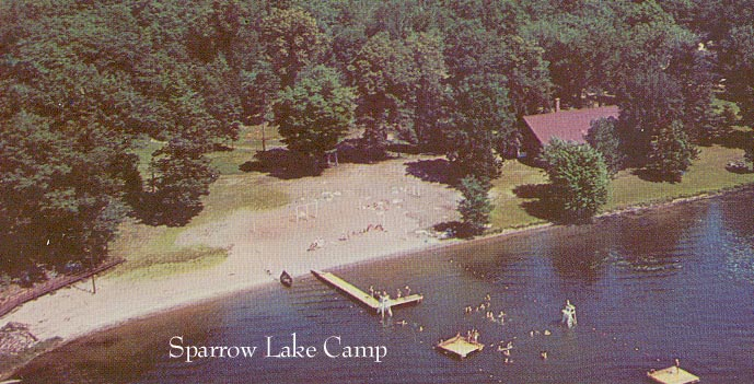 Aerial View Sparrow lake Camp (United Church)