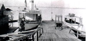 "Steamers ""LakeField"" and ""Glympse"" at Stanton Bros. dock"